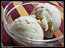 Melone-Joghurt-Eiscreme