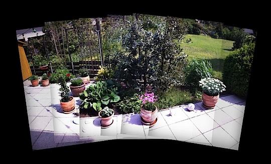 Ein Blick auf unsere Terrasse
