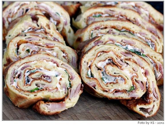 Rezept gefullte pfannkuchen mit schinken und kase